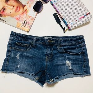 Mossimo Distressed Destroyed Jeans Shorts Size 11